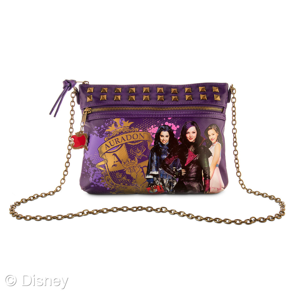 Descendants Auradon Prep Crossbody Bag, $22.95 Retailers: Disney Store and DisneyStore.com Available: Now