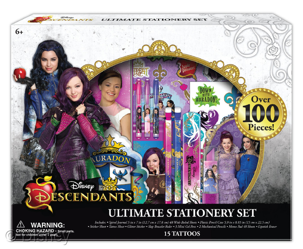 "Descendants Ultimate Stationery Set , $14.99 Retailers: Toys ""R"" Us Available: Now"