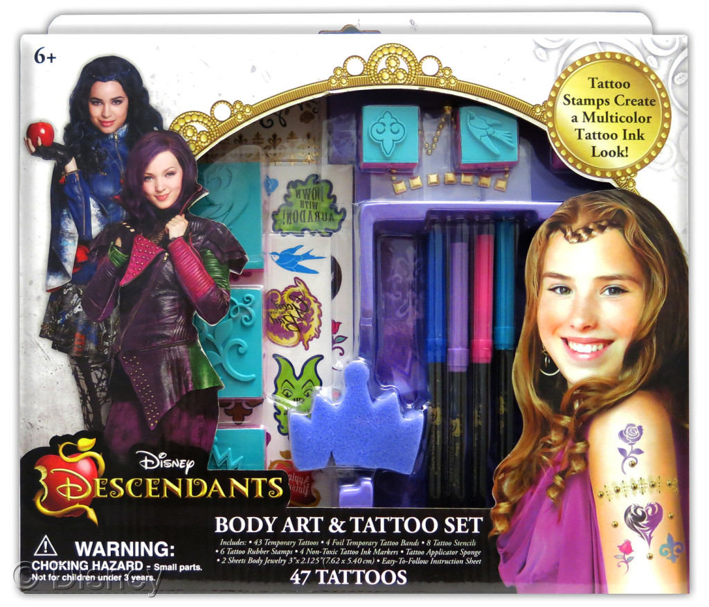"Descendants Body Art & Tattoo Set  , $12.99 Retailers: Toys ""R"" Us & Kohl's Available: August 15"