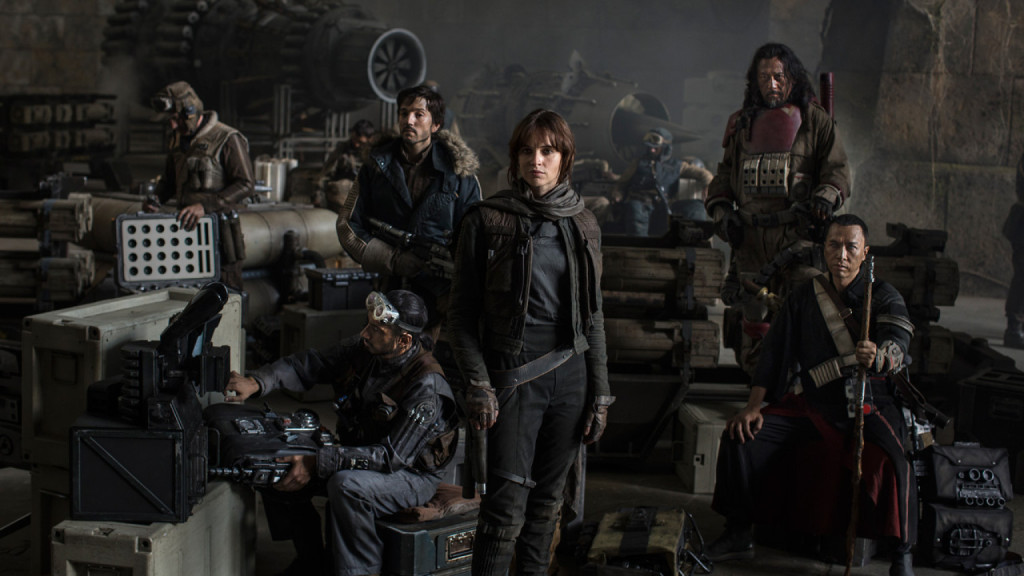 The cast of Rogue One: A Star Wars Story