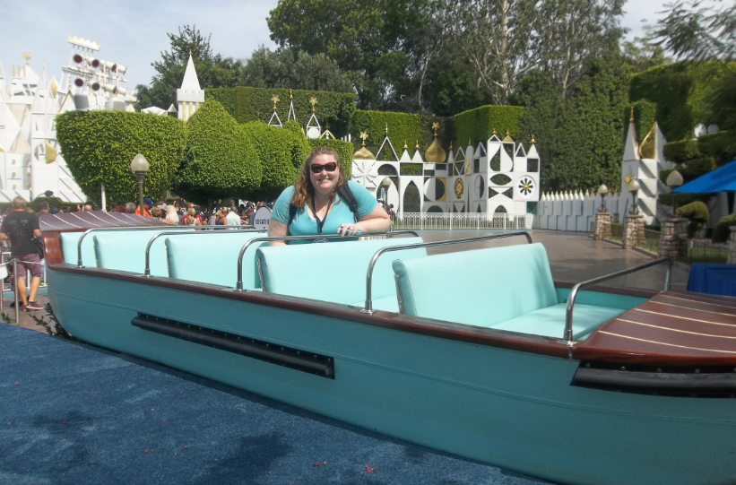 Hey! It's me in the Tomorrowland boat!
