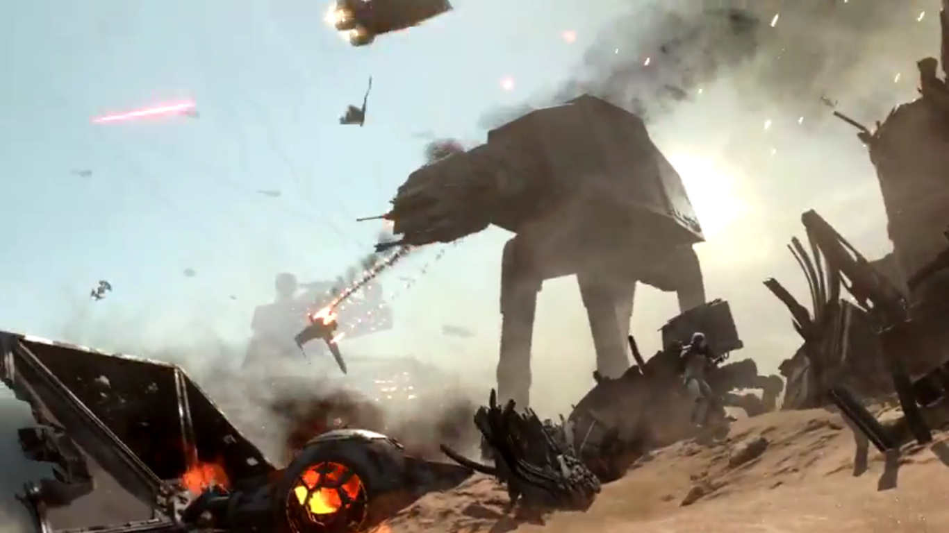 star wars battlefront: battle of jakku teaser trailer released