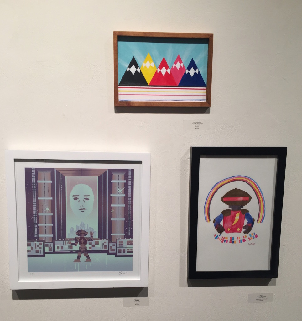 """From Right to Left, """"Aye-yi-yi-yi"""" by Sylvia Liu, """"Power Rangers"""" & """"Alpha 5"""" by Nicolette Davenport"""
