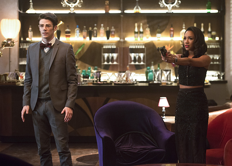 "The Flash -- ""Welcome to Earth-2"" -- Image  -- Pictured (L-R): Grant Gustin as Barry Allen and Candice Patton as Iris West -- Photo: Diyah Pera/The CW -- © 2016 The CW Network, LLC."