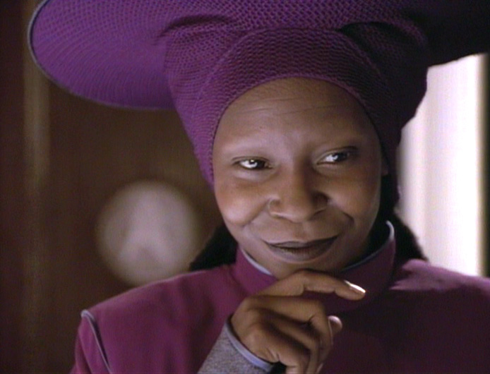 Whoopi Goldberg as Guinan on Star Trek: The Next Generation Image Credit: Paramount Pictures