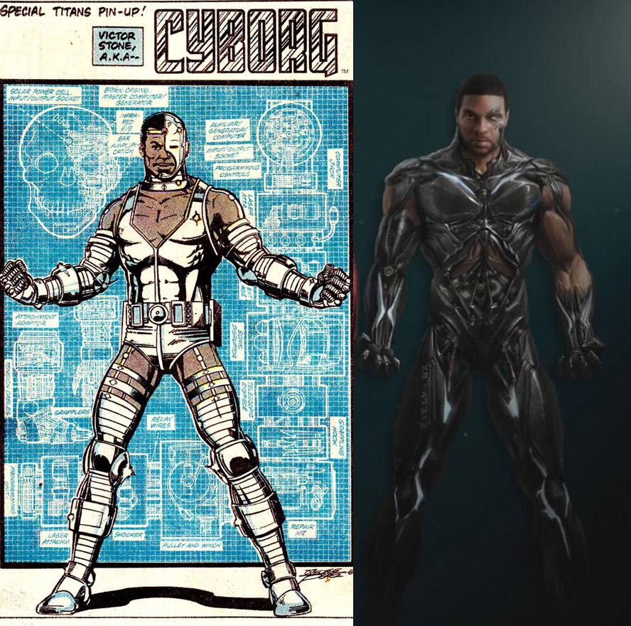 Cyborg Comics vs Movie