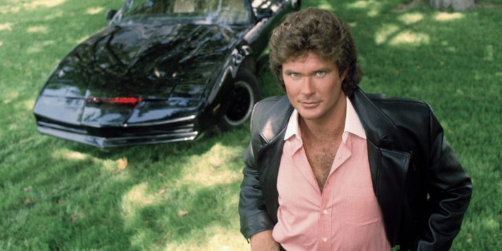 KNIGHT RIDER -- Pictured: David Hasselhoff and K.I.T.T.  (Photo by Paul Drinkwater/NBC/NBCU Photo Bank via Getty Images)