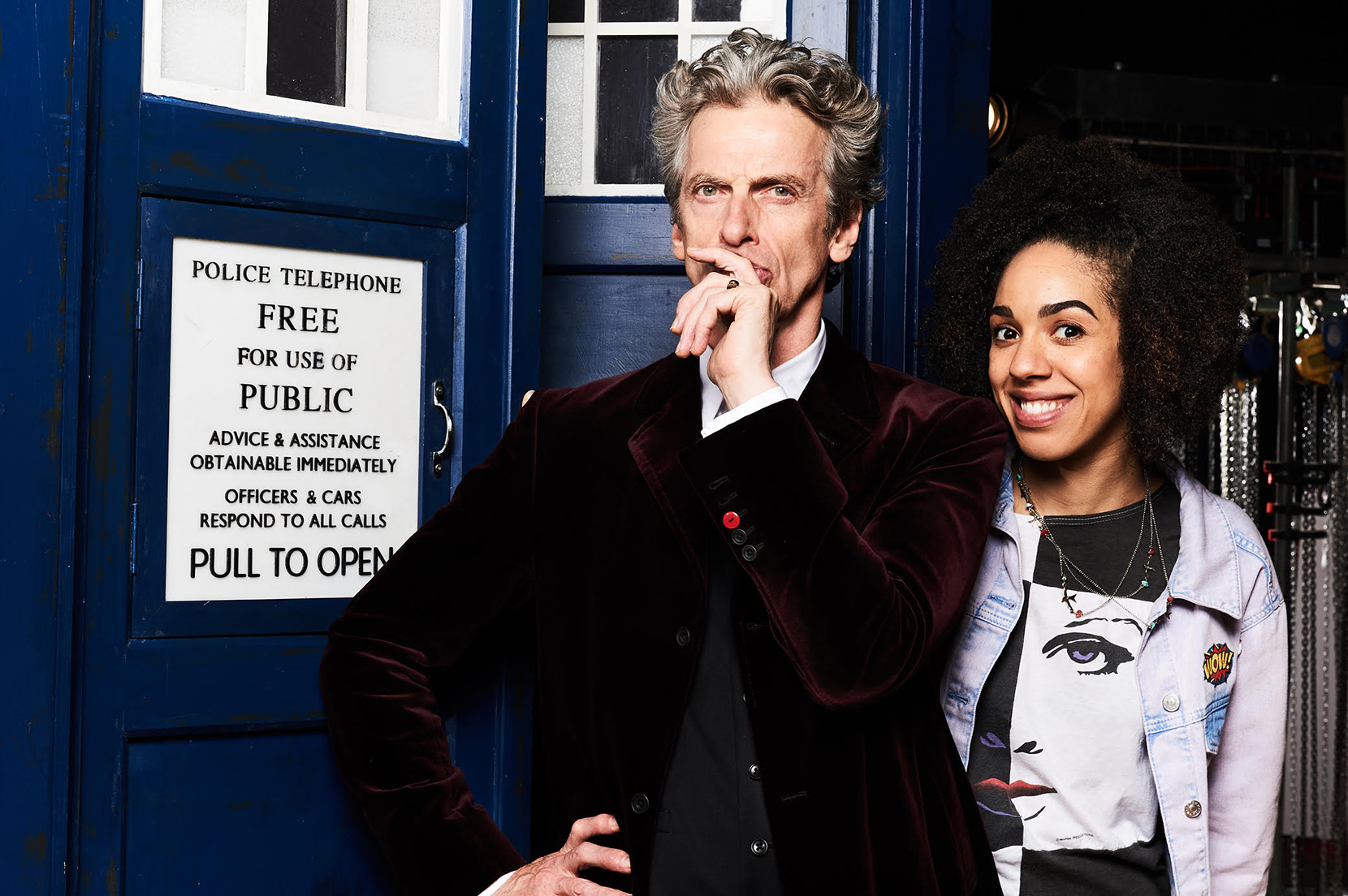 Peter Capaldi's Doctor and Pearl Mackie's Bill