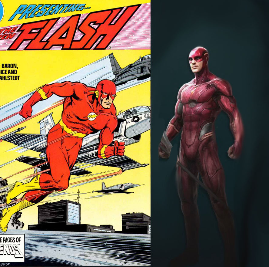 Flash Comics Vs Movie