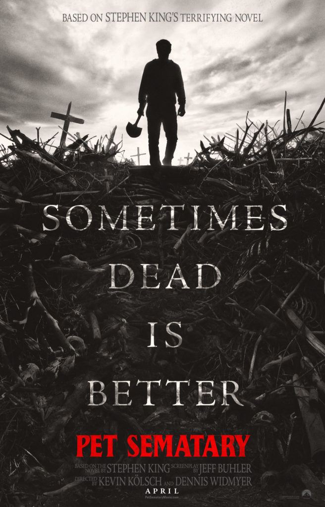 Brand new pics and a poster for Pet Sematary, with an announcement about the trailer