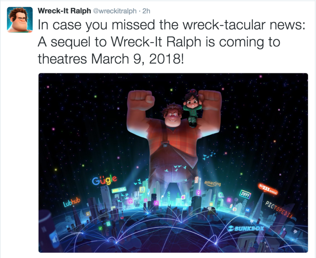 Wreck It Ralph 2 Confirmed