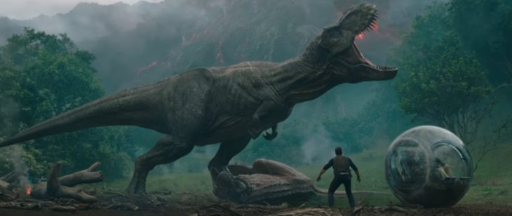 It's been four years since theme park and luxury resort Jurassic World was destroyed by dinosaurs out of containment. Isla Nublar now sits abandoned by humans while the surviving dinosaurs fend for themselves in the jungles. When the island's dormant volcano begins roaring to life, Owen (Chris Pratt) and Claire (Bryce Dallas Howard) mount a campaign to rescue the remaining dinosaurs from this extinction-level event. Owen is driven to find Blue, his lead raptor who's still missing in the wild, and Claire has grown a respect for these creatures she now makes her mission. Arriving on the unstable island as lava begins raining down, their expedition uncovers a conspiracy that could return our entire planet to a perilous order not seen since prehistoric times. With all of the wonder, adventure and thrills synonymous with one of the most popular and successful series in cinema history, this all-new motion-picture event sees the return of favorite characters and dinosaurs—along with new breeds more awe-inspiring and terrifying than ever before. Welcome to Jurassic World: Fallen Kingdom. Stars Pratt and Howard return alongside executive producers Steven Spielberg and Colin Trevorrow for Jurassic World: Fallen Kingdom. They are joined by co-stars James Cromwell, Ted Levine, Justice Smith, Geraldine Chaplin, Daniella Pineda, Toby Jones, Rafe Spall and Isabella Sermon, while BD Wong and Jeff Goldblum reprise their roles. Directed by J.A. Bayona (The Impossible), the epic action-adventure is written by Jurassic World's director, Trevorrow, and its co-writer, Derek Connolly. Producers Frank Marshall and Pat Crowley once again partner with Spielberg and Trevorrow in leading the filmmakers for this stunning installment. Belén Atienza joins the team as a producer.
