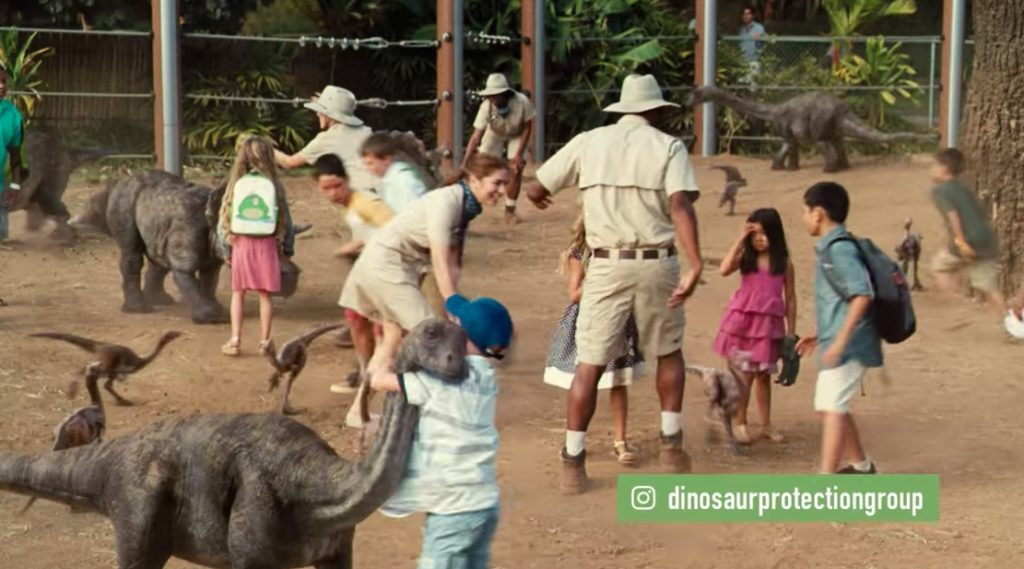 Bryce Dallas Howard stars in Jurassic World: Fallen Kingdom viral video for the Dinosaur Protection Group