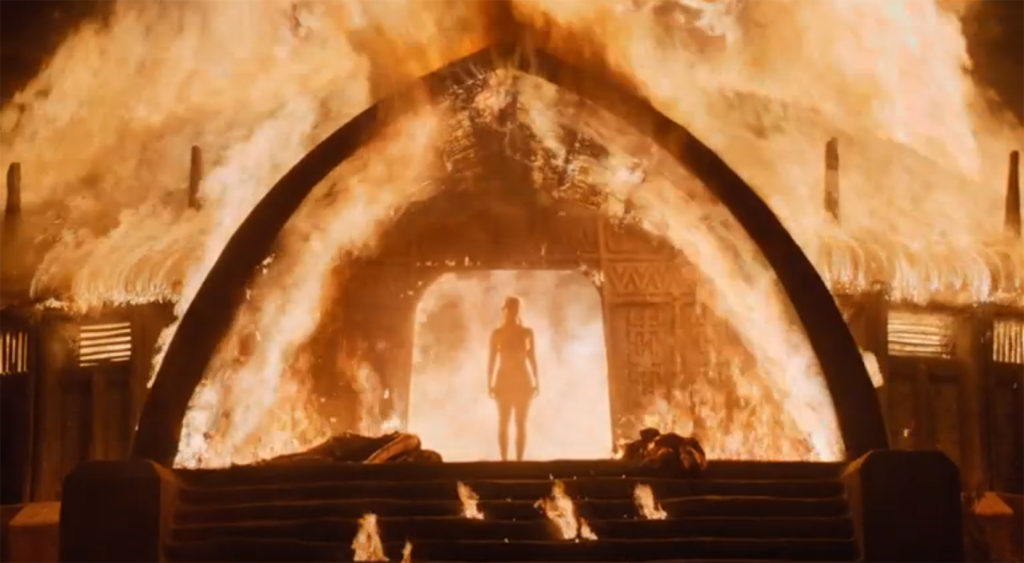 Danaerys Mother of Dragons Unscathed by Fire
