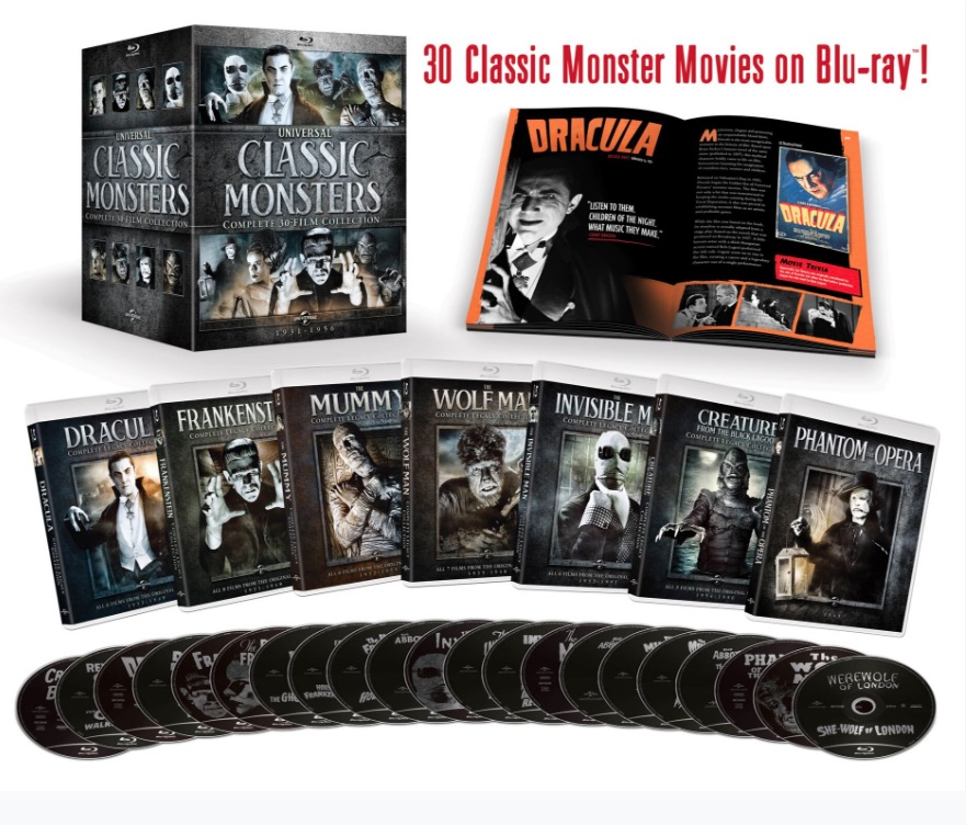 We're giving away a copy of theUniversal Classic Monster Complete 30-Film Collection!