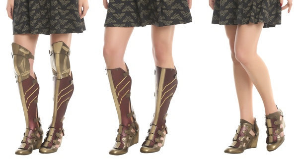 We Need These Wonder Woman 3-Piece Wedge Boots!