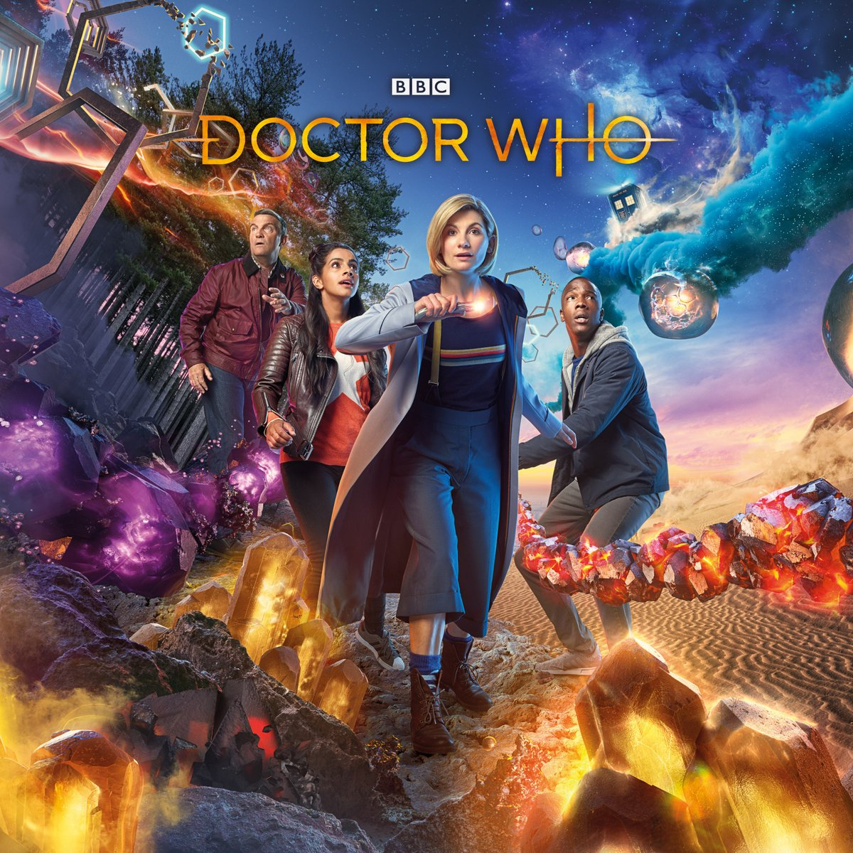 Doctor Who Key Art Brings the New Gang Together