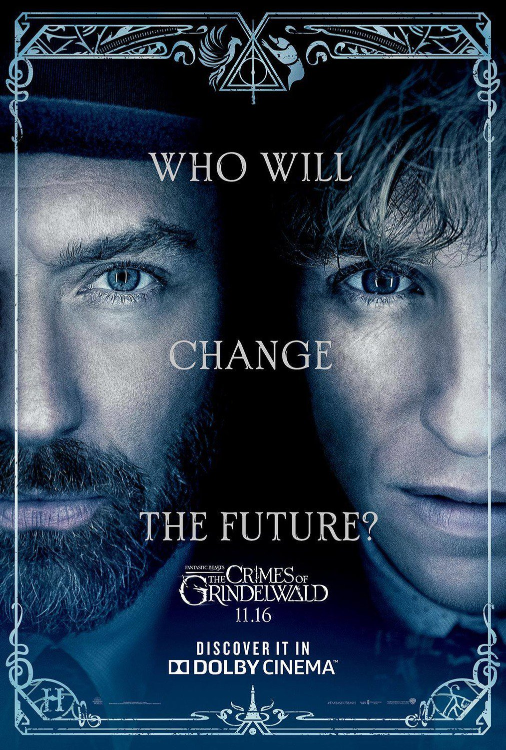 Who will change the future in Fantastic Beasts poster?