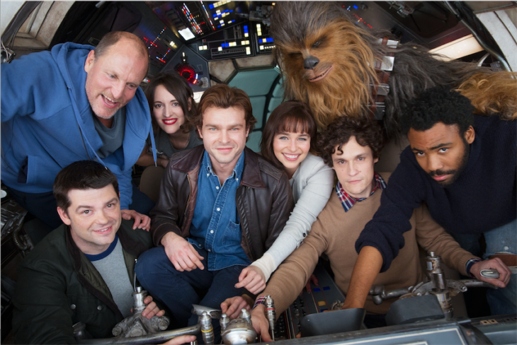 Han Solo movie begins production, starring Alden Ehrenreich, Woody Harellson, Emilia Clarke, Thandie Newton and Donald Over