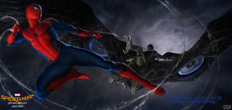 Spider-Man Concept Art/Marvel Studios & Sony Pictures