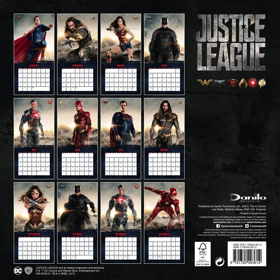 Superman Finally Joins the Justice League for the 2018 Calendar