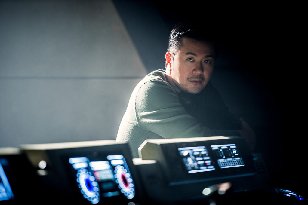 Director Justin Lin on the set of Star Trek Beyond from Paramount Pictures, Skydance, Bad Robot, Sneaky Shark and Perfect Storm Entertainment