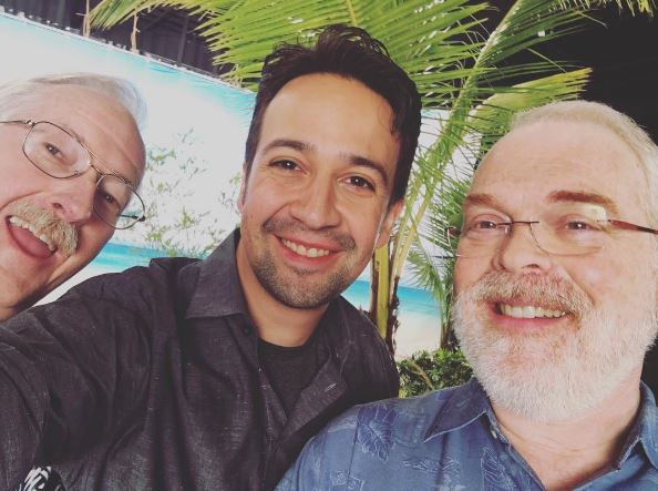 Lin Manuel Miranda with Ron Clements and John Musker