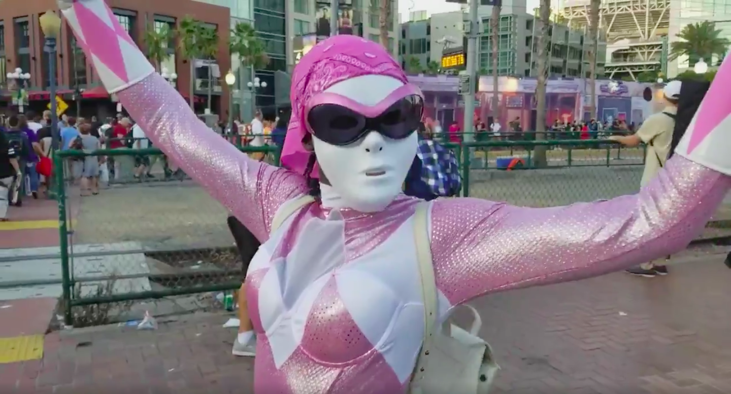 Lupita Nyong'o Skipped Through Comic-Con as the Pink Ranger